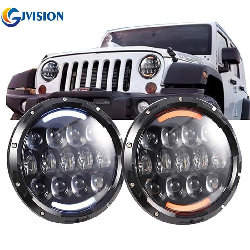 7 Автомобильный светодиодный фары для Wrangler Хаммер 4x4 внедорожный лампу DRL сигнала 7 дюймов 105 Вт фар противотуманные фары Daymaker
