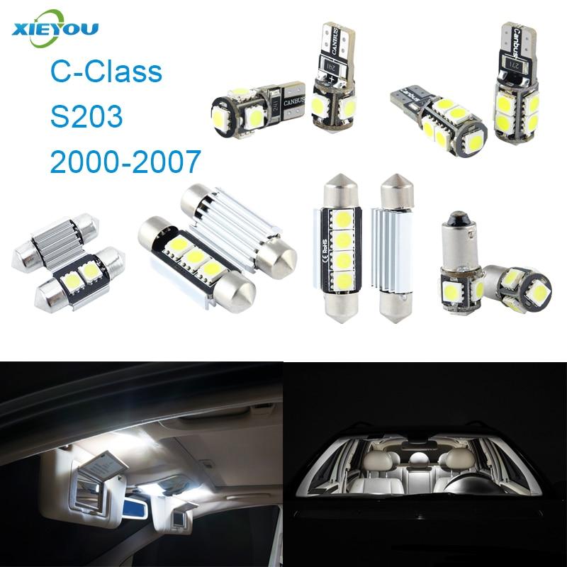 XIEYOU 11tk LED Canbusi siseruumivalgustite komplekt C-klassile S203 - Autotuled