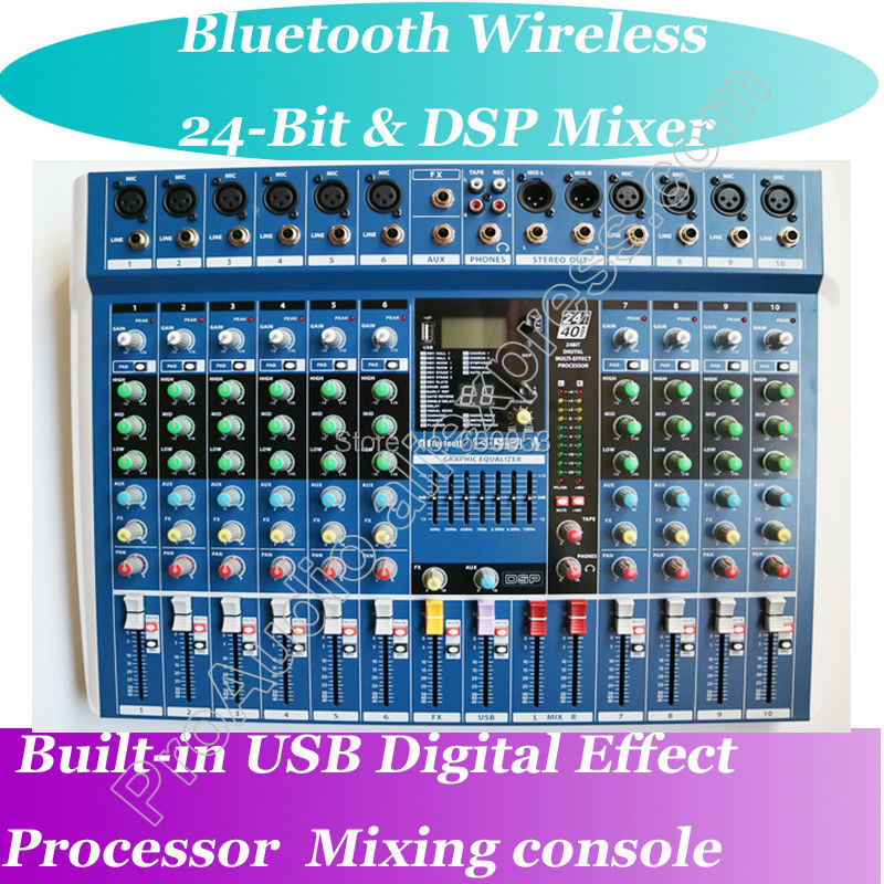 MICWL 6 8 10 Channel Bluetooth 24-Bit DSP Digital Effect 40Khz Live Studio Microphone Mixing Console Mixer USB MP3 48V staraudio pro 4 channel 2000w live studio dj stage amplifier powered mixer with mp3 bluetooth usb sd 16 dsp smx 4000b