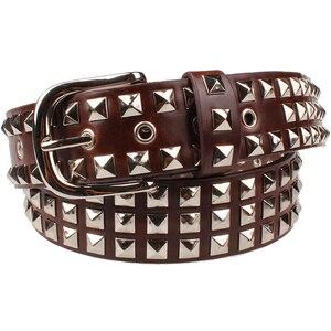 Image 3 - Punk style Big metal rivet belt women Round rivets Spike sequins belt punk Simple decorative waistband belt for men