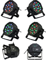 12pcs/lot Fast Shipping American DJ Mega Tri Par Profile Bright Stage LED Wash Light RGB Color Mixing 18*3 LEDs