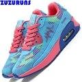 Мода низким топ повседневная обувь женщины дамы тренеры плоские воздуха повседневная обувь женщин увеличение платформа обувь zapatillas mujer 238y