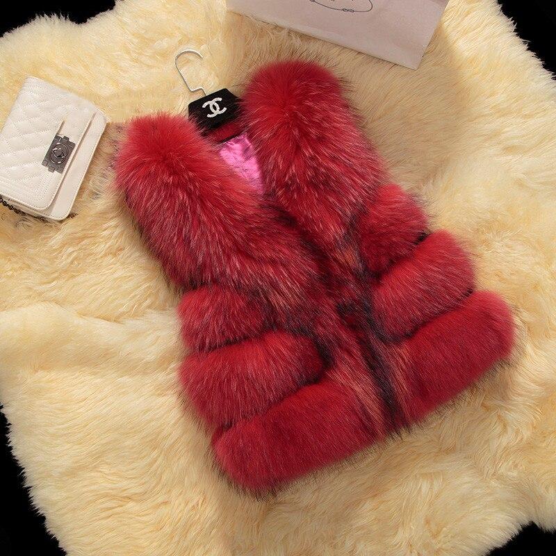 Натуральный мех енота жилет Дети Девушки осень зима теплый толстый меховой жилет натуральный детский родитель детское меховое пальто жиле