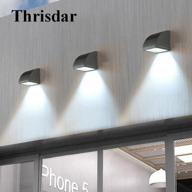 Thrisdar Waterproof LED Wall Light Modern Minimalist Exterior Aisle  Corridor Porch Wall Lights Villa Garden Balcony