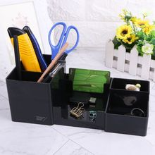 1 Pc Pencil Holder Multifunctional Pen Holder Desk Organizer Holder Box Office School Stationery Office Accessories 1 pc pencil shaped pen stand holders for students plastic dest stationery holder cartoon creative pen holder