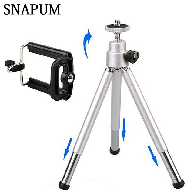 a5575a7ad18d US $7.9 |SNAPUM mobile phone Mini Tripod Stand Holder with cellphone clip  for HTC Huawei letv Samsung apple iphone 4 5 6 6s plus-in Mobile Phone ...