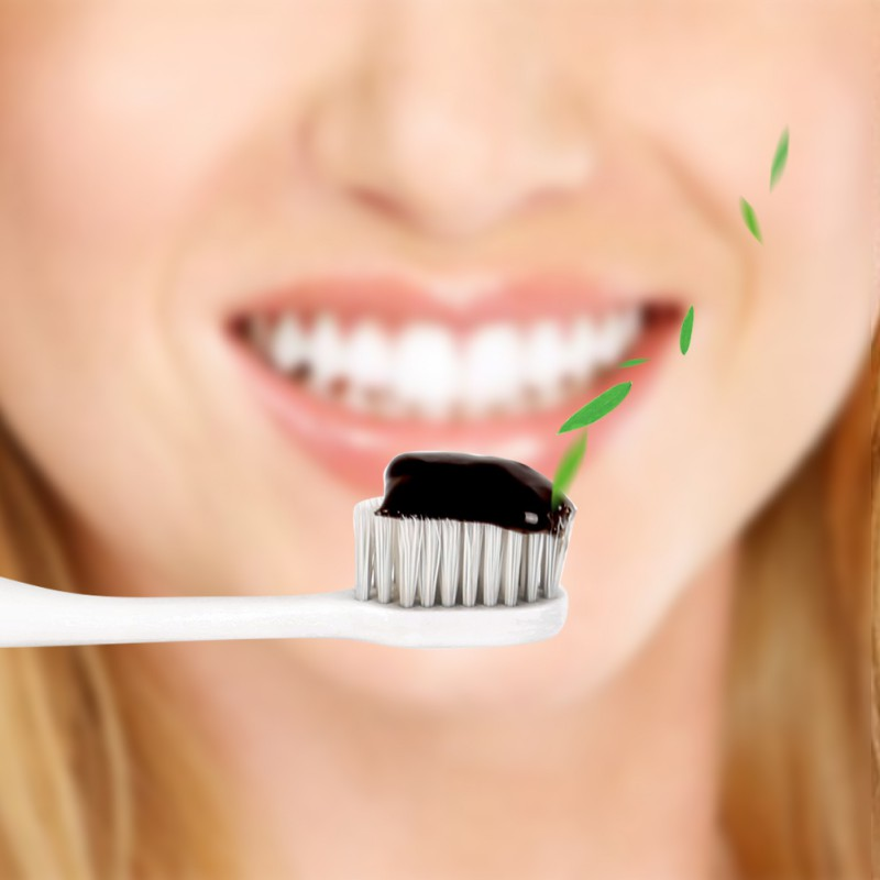 New Hot Sale 1pcs Bamboo Toothpaste Black Toothpaste Whitening Teeth Activated Charcoal All-purpose Teeth Toothpaste Makeup 105g 4