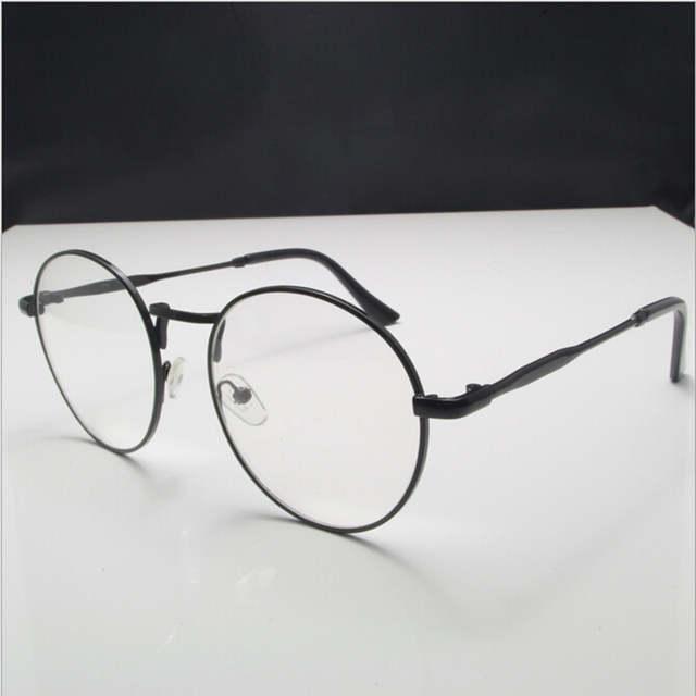 b1c51a2e3c placeholder New high quality antique retro round eyeglasses metal frame men  large vintage round glasses frames women