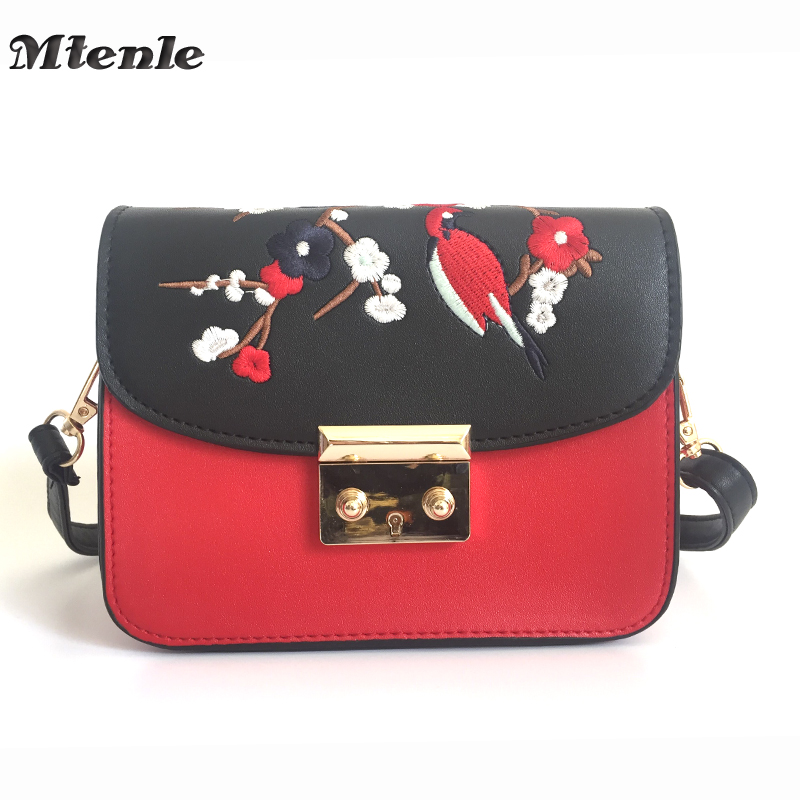 MTENLE Shoulder Women Bag Female Flower Embroidery Ladies Small Bags Women  Leather Messenger Crossbody Bag Brands Designer FI-in Shoulder Bags from  Luggage ... 141783614a53a