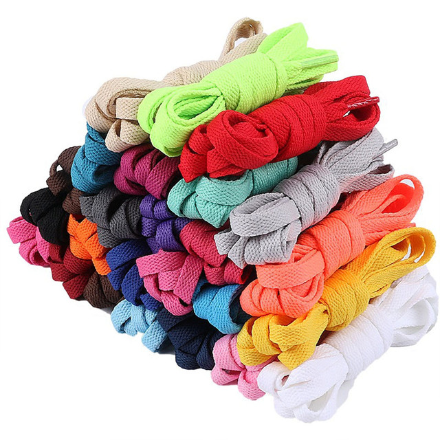 Flat Coloured Athletic Sneaker Shoe Laces Strings Shoelaces Bootlaces#180306