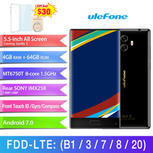 "Ulefone MIX 4GB+64GB Front Fingerprint Identification Dual Back Cameras 5.5"" Android 7.0 MTK6750T Octa Core 64-bit up to 1.5Ghz"