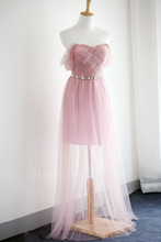 Lovely Sweetheart Bridesmaid Dress Floor Length Prom Gown Chiffon Cheap Wedding Dress Beading A Line Backless Bridesmaid Dresses