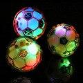 Niños LED Flashing Light Up Saltando Pelota de Fútbol de Fútbol de Aprendizaje Regalo Divertido del Juguete de Los Niños de Alta Calidad