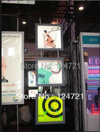 Store window display hanging led light box advertising poster wall mount a2 size for profile aluminium
