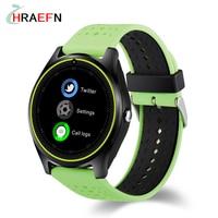 Reloj inteligente tarjeta de la Ayuda SIM V9 2G Cámara Deporte Salud de música MP3 reloj hombres mujeres Smartwatch Para Android IOS PK DZ09 GT08 Y1 A1