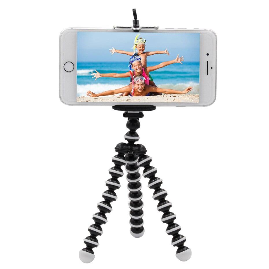 Mini Flexible Octopus Tripod Portable Holder Mobile Phone Tripod For Camera Mobile Phone Tripods Foldable Desktop Stand