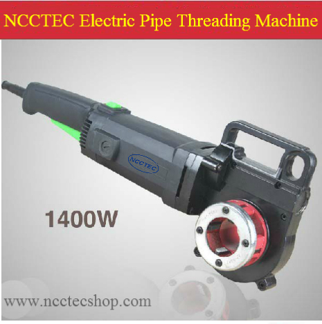 NCCTEC Portable Electric threading machine for pipe | make screw thread in the steel pipe of DN15 DN20 DN25 DN32 | 7KG 1.8HP