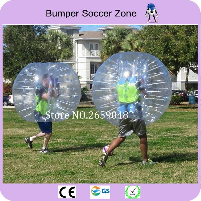 Envío Gratis 1.5 m Claro PVC Bola de Burbuja Humana Burbuja Inflable Balón de Fútbol Burbuja de Fútbol Bola de Parachoques Bola Zorb