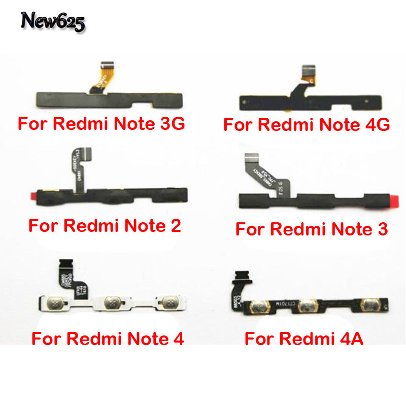 New For Xiaomi Redmi 4 4X 4A Note 2 Note3 Note 4X Volume Button Power Switch On Off Button Flex Modile Phone Cable