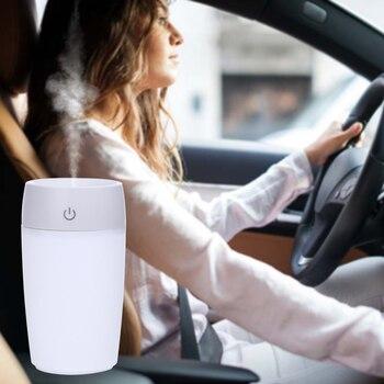 Car Humidifier Air Purifier Cup Aroma Diffuser USB Ultrasonic Humidifier Mist Maker Fogger Home Quiet Horizontal Air Condition