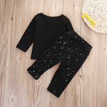 2 Pcs Newborn Kids Baby Girl Boy Clothing Set Infant Babies Long Sleeve T-shirt Tops+Pants Outfits Sets Clothes 2019 цена
