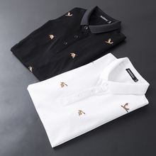 High Quality Great Brand Polos 2019 New EU Polo Shirts For Men Short Sleeve Wild Goose Embroidery Breathable Shirt 4XL 5XL 9206