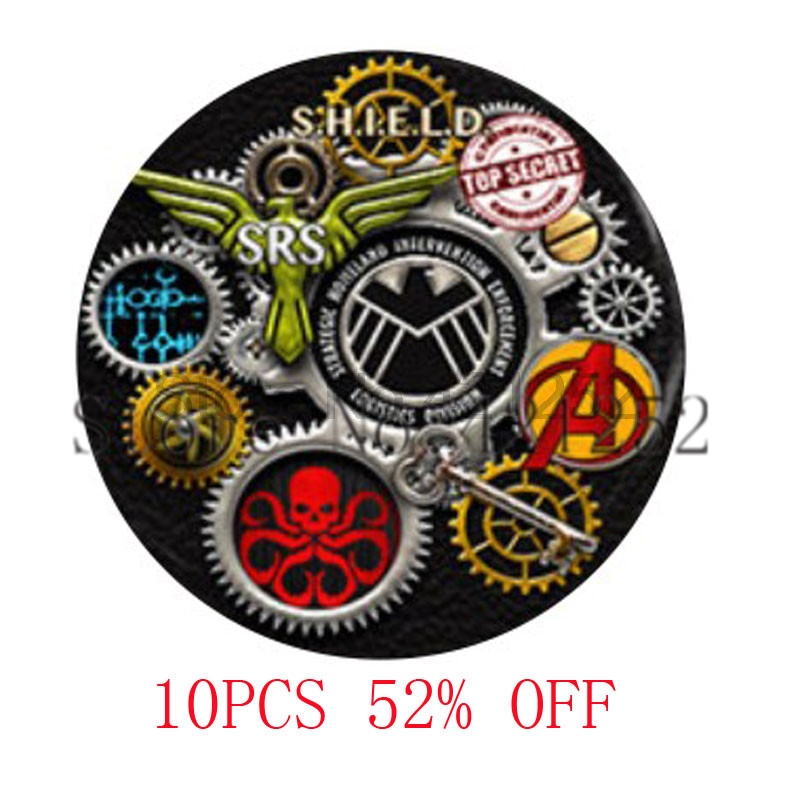 Steampunk Agents of Shield and others Art Photo Pendant Necklace keyring bookmark cufflink earring