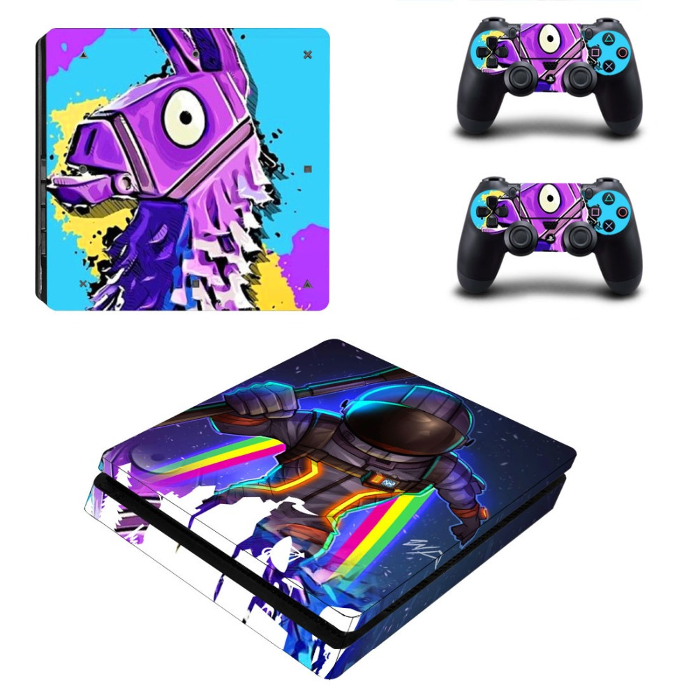 New PS4 Slim Skin Sticker Decal Vinyl For Playstation 4 Console And 2 Controllers PS4 Slim Skin Stickers