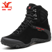 Xiang Guan 2018 Hiking shoes Men Boots Sports Tactical New Wear-Resistant Camping Sneakers Black Climbing Waterproof Boots Women