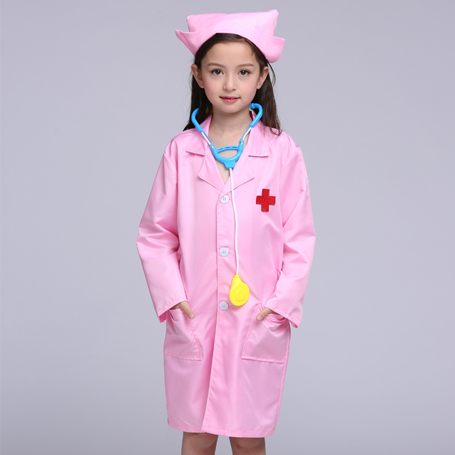 Children Halloween Cosplay Costume Kids Doctor Costume Nurse Uniform For Girls 3pcs ( Coat And Hat  sc 1 st  AliExpress.com : girls doctor costume  - Germanpascual.Com