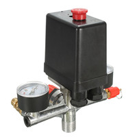 Non Adjustable 125psi 2 Phase Compressor Pressure Switch Air Valve Gauge Control Relief 230V 1 Port