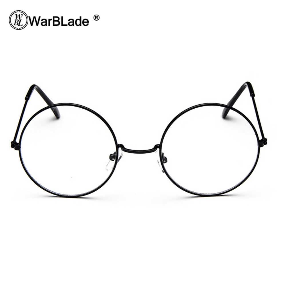 54db56886a ... WarBLade Cheap Big Round Nerd Glasses Clear Lens Unisex Gold Round  Metal Frame Glasses Frame Optical ...
