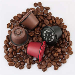 Funnel FILTER Cup COFFEE-FILTERS-BASKET Refillable Capsule Cafe Nespresso Coffee Round