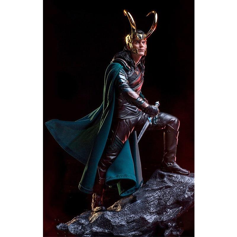 La bataille finale des Avengers 4 Statue Loki supervilain PVC figurine d'action recueillir modèle jouet M949