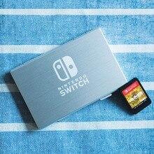 6 слотов для карт Алюминиевый металлический карточная игра хранение картриджей Чехол Коробка азартные игры для Nintendo Switch