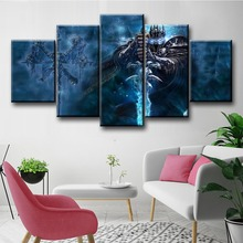 5 Piece World of Game Painting Children Room Decoration Dota Modern Decorative Canvas Wall Art for Home Decor