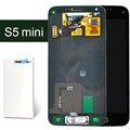 2 pcs 100% de garantia de qualidade s5 mini display lcd de toque digitador para samsung s5 mini preto/branco com botão home navio livre