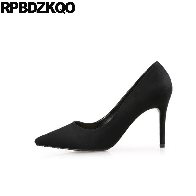 2018 pointed toe scarpin size 33 sexy white high heels work pumps 4 34 patent leather shoes fashion black suede office ladies2018 pointed toe scarpin size 33 sexy white high heels work pumps 4 34 patent leather shoes fashion black suede office ladies