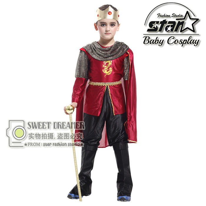 Boys New Cosplay Costumes Handsome Prince King Clothing Kids Cute Party Dress Baby Boys Performance Costumes for Sale