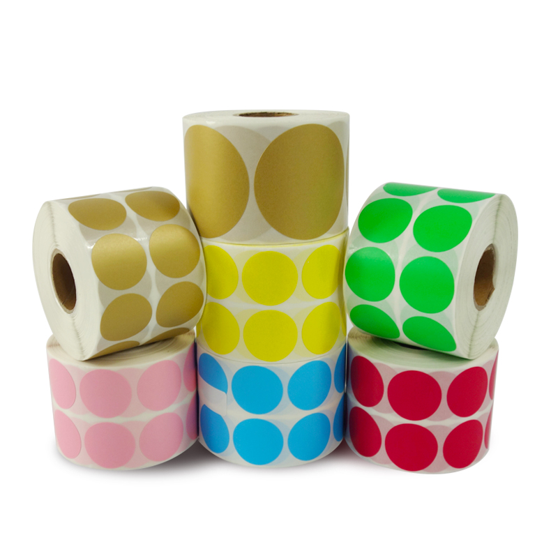Round Stickers Color Thermal Label Roll 25mm 30mm 40mm 50mm  Leave Message To Seller About Color You Need