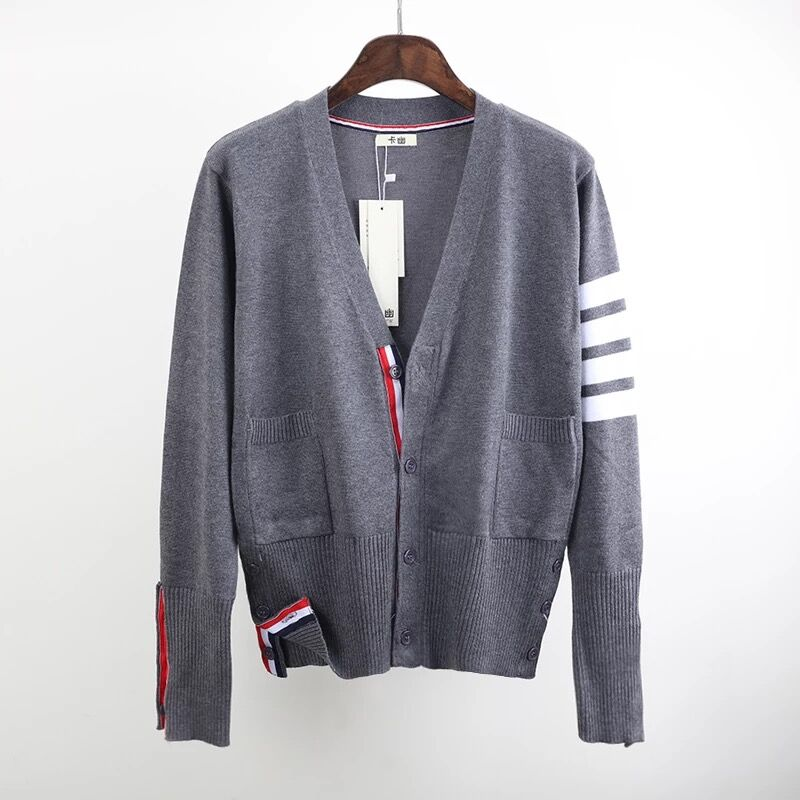 2019 Spring And Autumn European And American Knitted Shirts Striped Cardigan Women Sweater