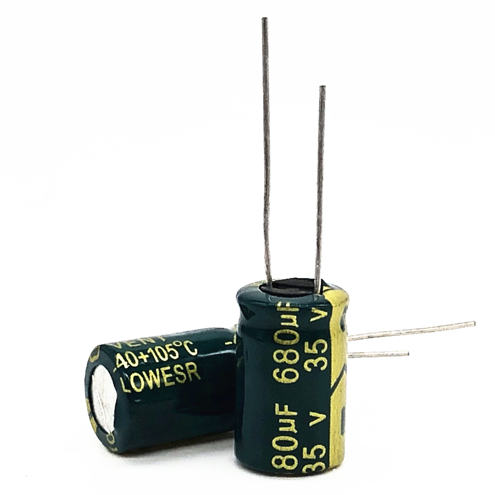 35V 680UF  10*15  High Frequency Low Impedance Aluminum Electrolytic Capacitor 680uf 35v 20%