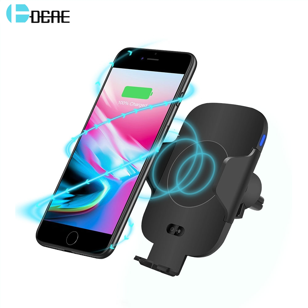DCAE Automatic infrared Sensor Fast Car Wireless Charger