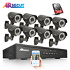 Plug Play 8CH CCTV System 3TB HDD Onvif 1080P HD H 264 PTZ Varifocal 2 8mm