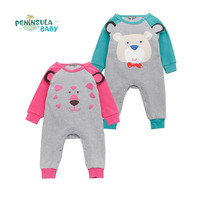 Spring Autumn Baby Rompers Cute Animal Long Sleeve Jumpsuit Newborn Boys Girls Clothing Infant Toddler Coverall Kids Romper
