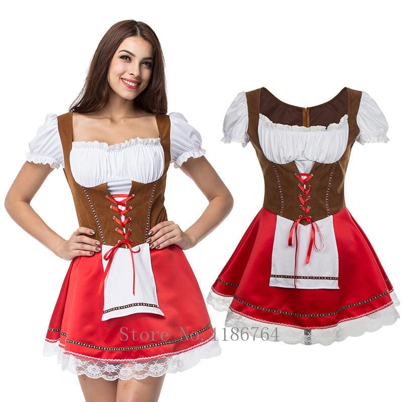 Plus Size M XL 2XL 3XL 4XL 5XL Most Popular Women's Bavaria Oktoberfest Costume Fancy Dress Beer Costume  Halloween Costume