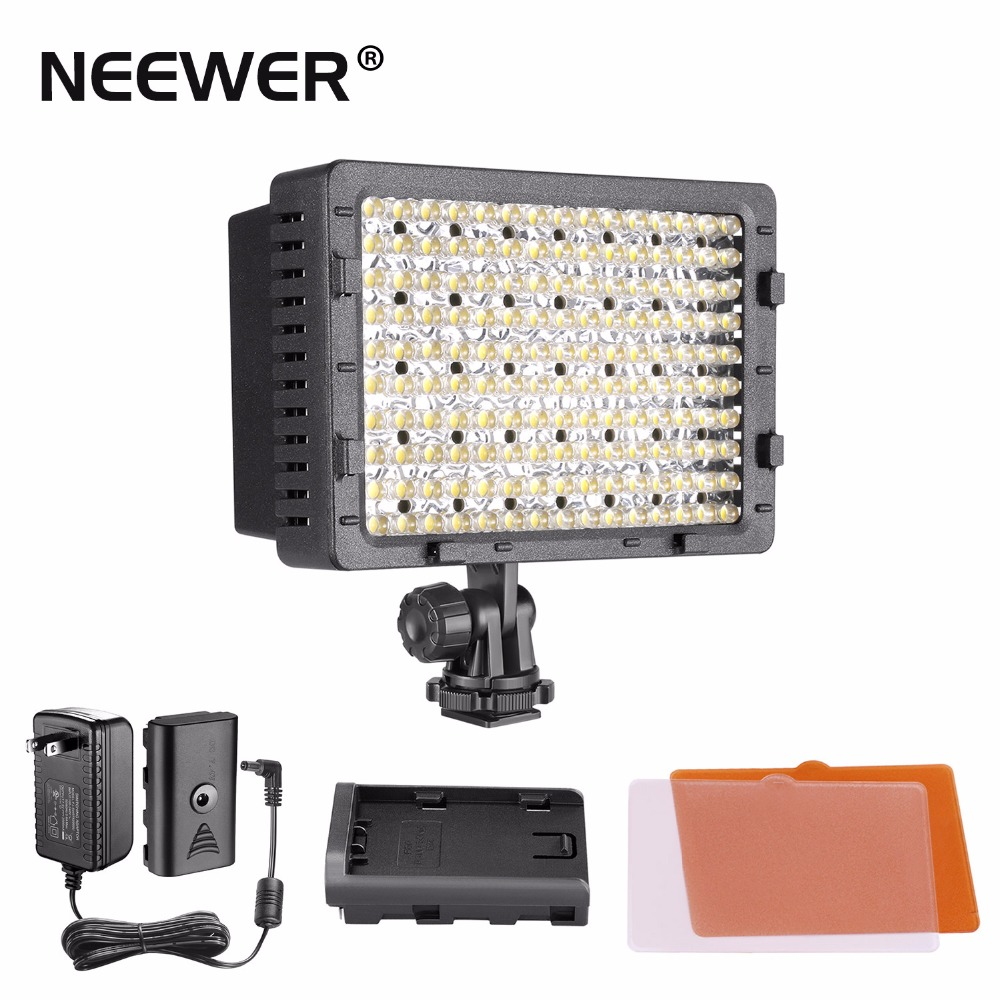 NEEWER 160 LED CN-160 Dimmable Ultra High Power Panel Digital Camera / Camcorder Video Light, LED Light W/ Power Adapter travor 2 in 1 photography 160 led studio lighting kit dimmable ultra high power panel digital camera dslr camcorder led light