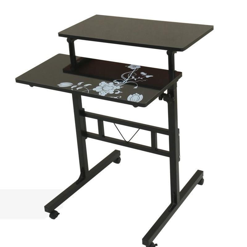 Я Ци Нескользящие Простые Модные мобильный настольный comter стол подъемный стол резюме Бесплатная доставка ...
