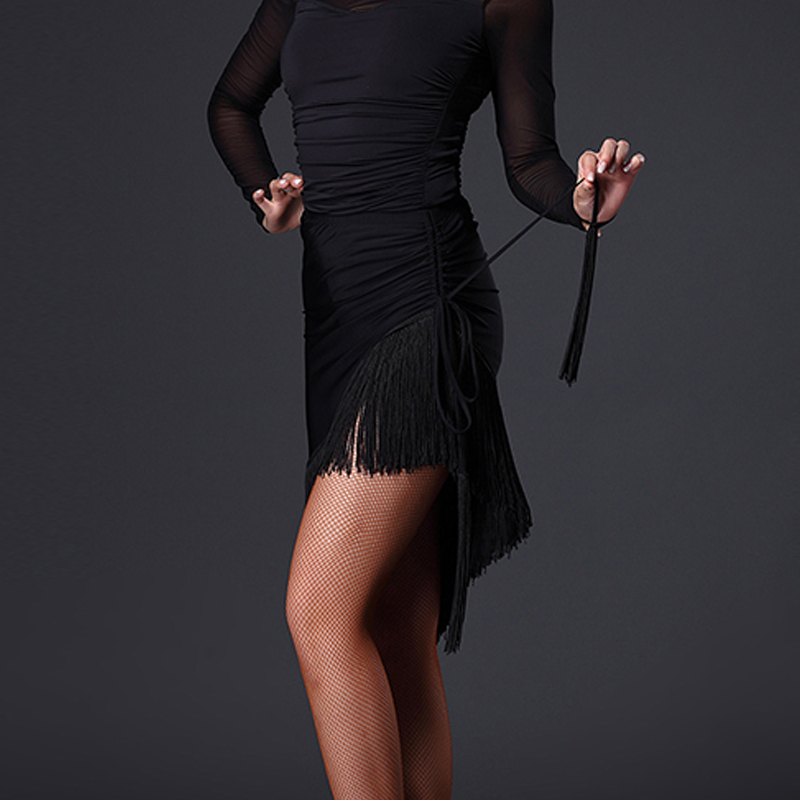 2017 New Ballroom Dance Skirts Latin Dance Skirt Cha Cha Paso Doble Cowboy Samba Dress Skirt Latin Dance Sexy Dress