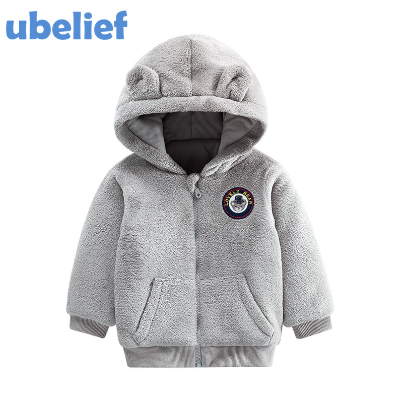 UBELIEF boys hoodies fleece baby bear hood Boys kids hoodies winter boy hoodies children 2017 baby hooded Clothe Cotton Outwear
